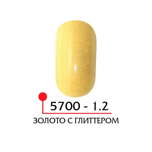 Цветная акриловая пудра - золото с глиттером