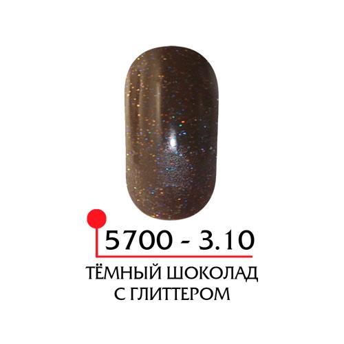 Цветная акриловая пудра - темный шоколад с глиттером