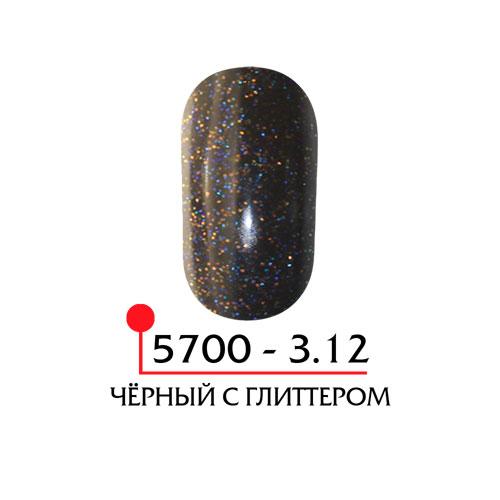 Цветная акриловая пудра - черный с глиттером