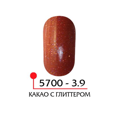 Цветная акриловая пудра - какао с глиттером
