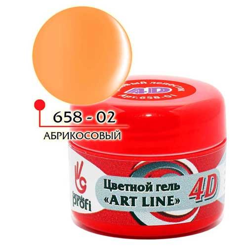 Цветной гель 4Д - абрикосовый джем