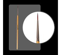 Кисть для дизайна нейлоновая круглая №00 (10 мм) с лого ФП