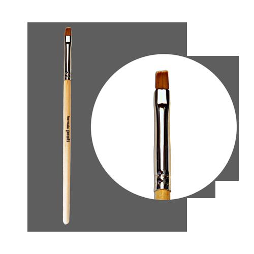 Кисть для геля нейлоновая № 5 прямая (5мм) с лого ФП