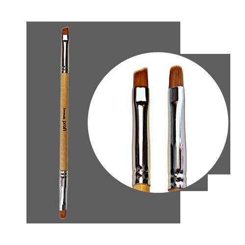 Кисть для геля нейлоновая двойная №6 (скос/овал) с лого ФП