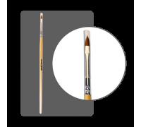 """Кисть колонок для дизайна """"Лепесток"""" №3 (7мм) с лого ФП"""