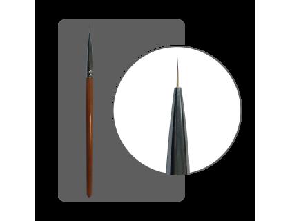 Кисть ультратонкая нейлон № 00 (7 мм) с лого ФП