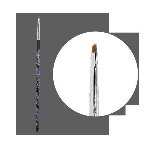 Кисть прямая для китайской росписи с цветной ручкой скошенная № 1