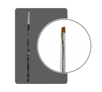 Кисть прямая для китайской росписи с цветной ручкой скошенная № 2