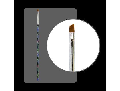 Кисть прямая для китайской росписи с цветной ручкой скошенная № 3