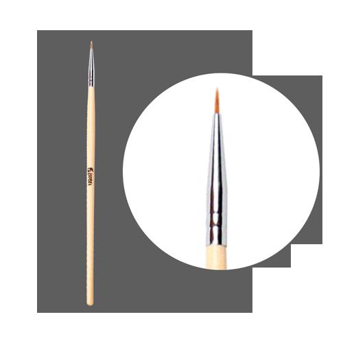 Кисть волосковая для прорисовки Simply Nails с деревянной ручкой № 1