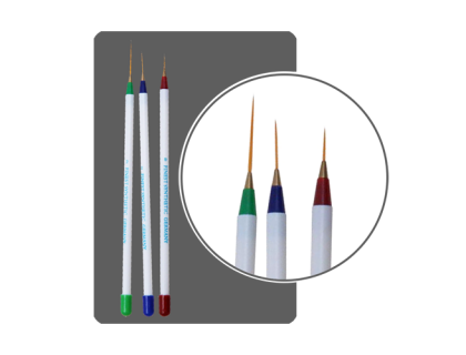 Набор кистей для дизайна волосковые Asia Nail (3 шт.)