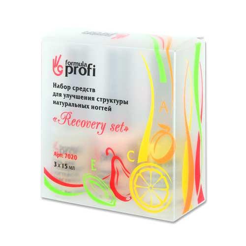 Комплекс средств для улучшения структуры натуральных ногтей Recovery set