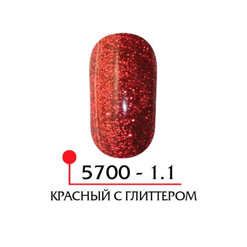 Цветная акриловая пудра - красный с глиттером