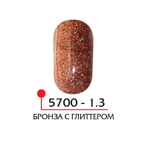 Цветная акриловая пудра - бронза с глиттером