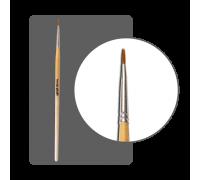 Кисть для дизайна нейлоновая круглая №00 (5 мм) с лого ФП