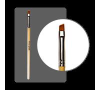 Кисть для геля нейлоновая №4 скошенная с лого ФП