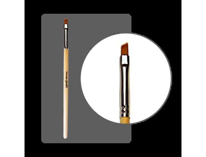 Кисть для геля нейлоновая №5 скошенная с лого ФП