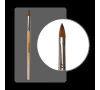 Кисть овальная для акрила колонок №8 с лого ФП