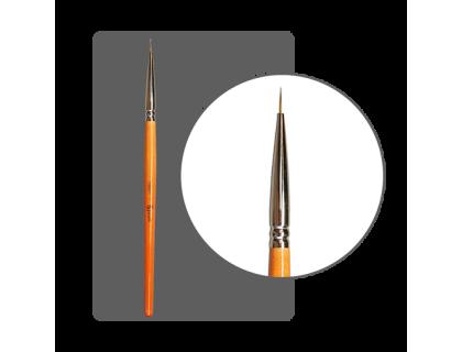 Кисть для прорисовки нейлон №00 (8 мм) с лого ФП