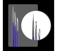 Набор кистей для дизайна + дотс (3 шт)