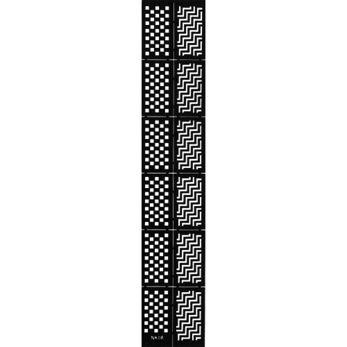 Трафарет виниловый для дизайна ногтей NK-06