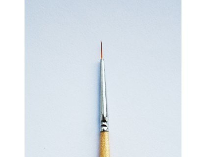 Кисть для прорисовки нейлоновая круглая №4/0 (d. 0.5мм)