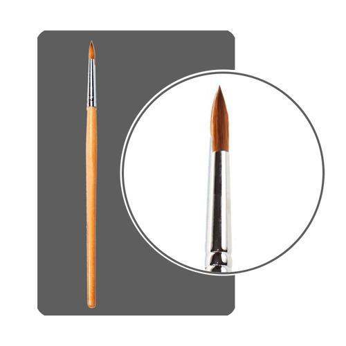 кисть для ногтей Kolinsky №10 круглая с деревянной ручкой - США