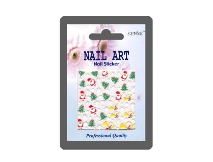 Наклейка Nail ART (снежинка, труба)