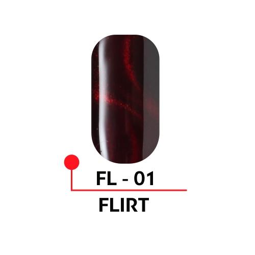 """Гель-лак с эффектом кошачьего глаза """"FLIRT"""" №01, 5 мл."""