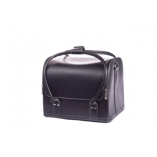 Сумка - чемодан для мастера кожзам, цвет чёрный 30х25х25 см