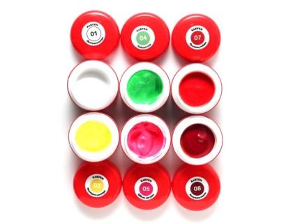 Набор гель-красок Кабуки №01 (6 цветов по 5 гр)
