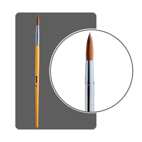 Кисть для акрила №8 круглая, деревянная ручка