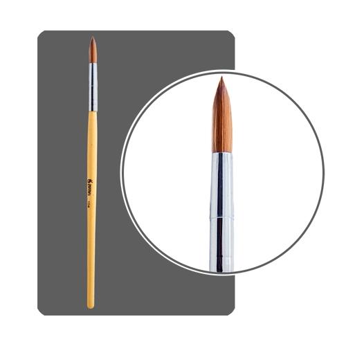 Кисть для акрила №10 круглая, деревянная ручка
