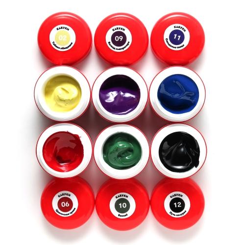 Набор гель-красок Кабуки №02