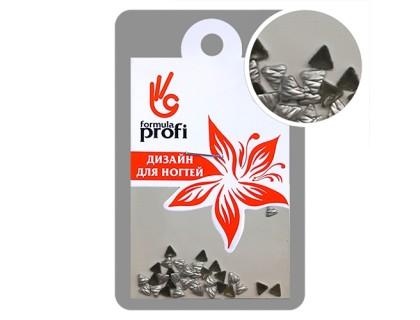 Клёпки металлические с гранями Треугольник 3*3 мм, цвет серебро матовое
