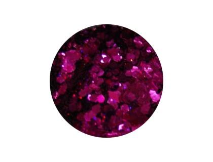 Конфетти в баночке 5гр., цвет красно-фиолетовый