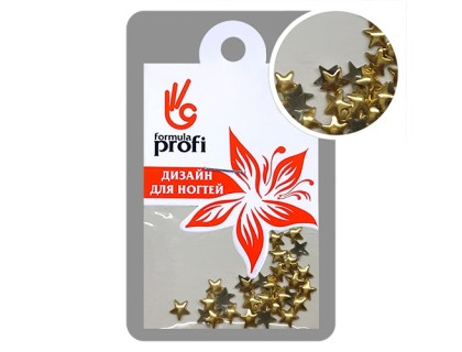 Клёпки металлические Звёздочка 4 мм, цвет золото
