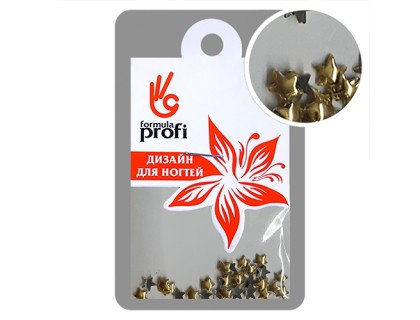 Клёпки металлические Звёздочка 3 мм, цвет золото