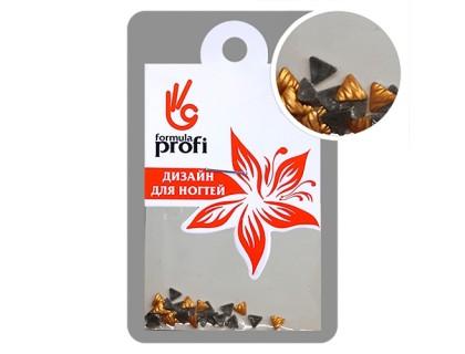 Клёпки металлические с гранями Треугольник 3*3 мм, цвет золото матовое