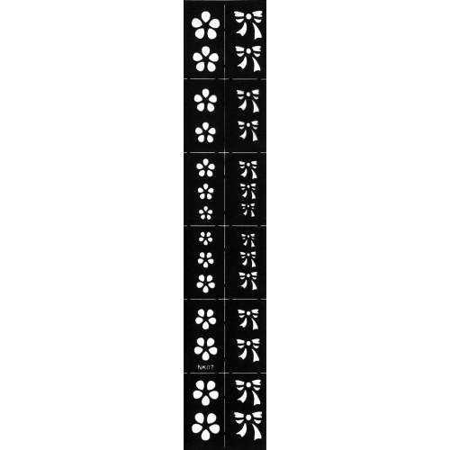 Трафарет виниловый для дизайна ногтей NK-07