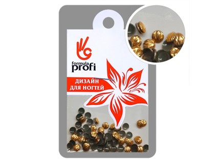 Клёпки металлические с гранями  Круг d.3 мм, цвет золото