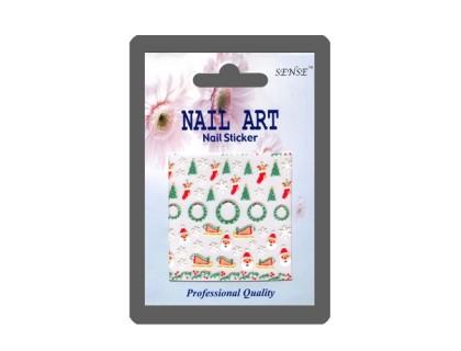 Наклейка Nail ART (венок, сани)