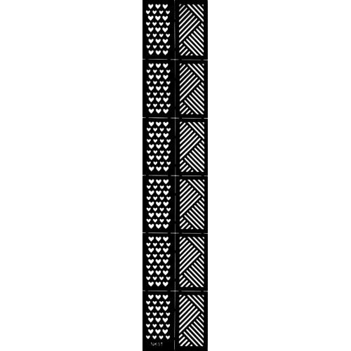 Трафарет виниловый для дизайна ногтей NK-01