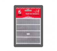 Наклейка для дизайна Клёпки, цвет серебро 9 х11 см BP004