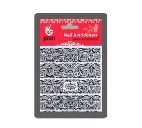 Наклейка для дизайна Кельтские узоры, цвет чёрный 9 х11 см BP024