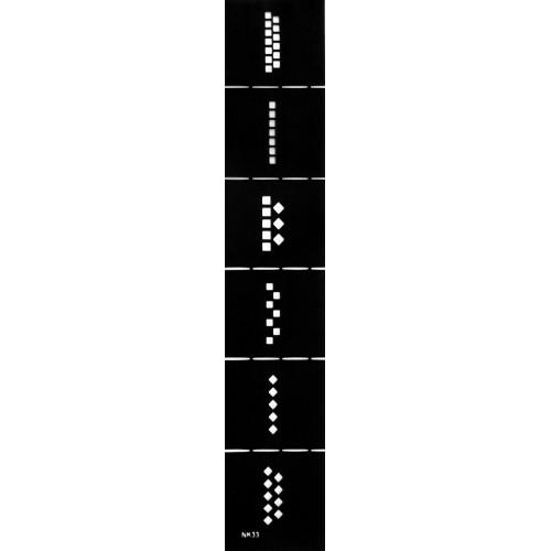 Трафарет виниловый для дизайна ногтей NK-33