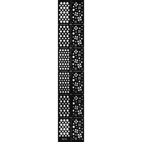 Трафарет виниловый для дизайна ногтей NK-16