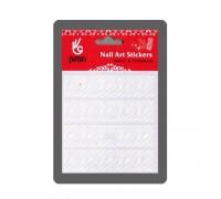 Наклейка для дизайна Зебра, цвет белый 9 х11 см BP008