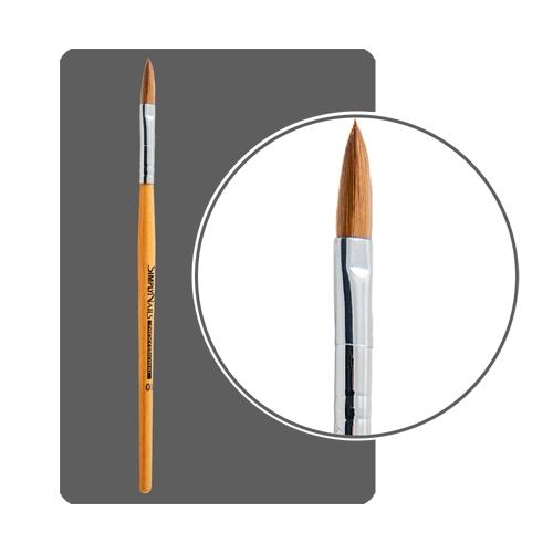 Кисть для акрила  №10  лепесток, деревянная ручка