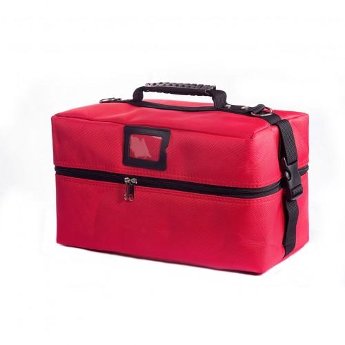 Сумка мастера для инструментов текстиль 40х21х21см, цвет красный